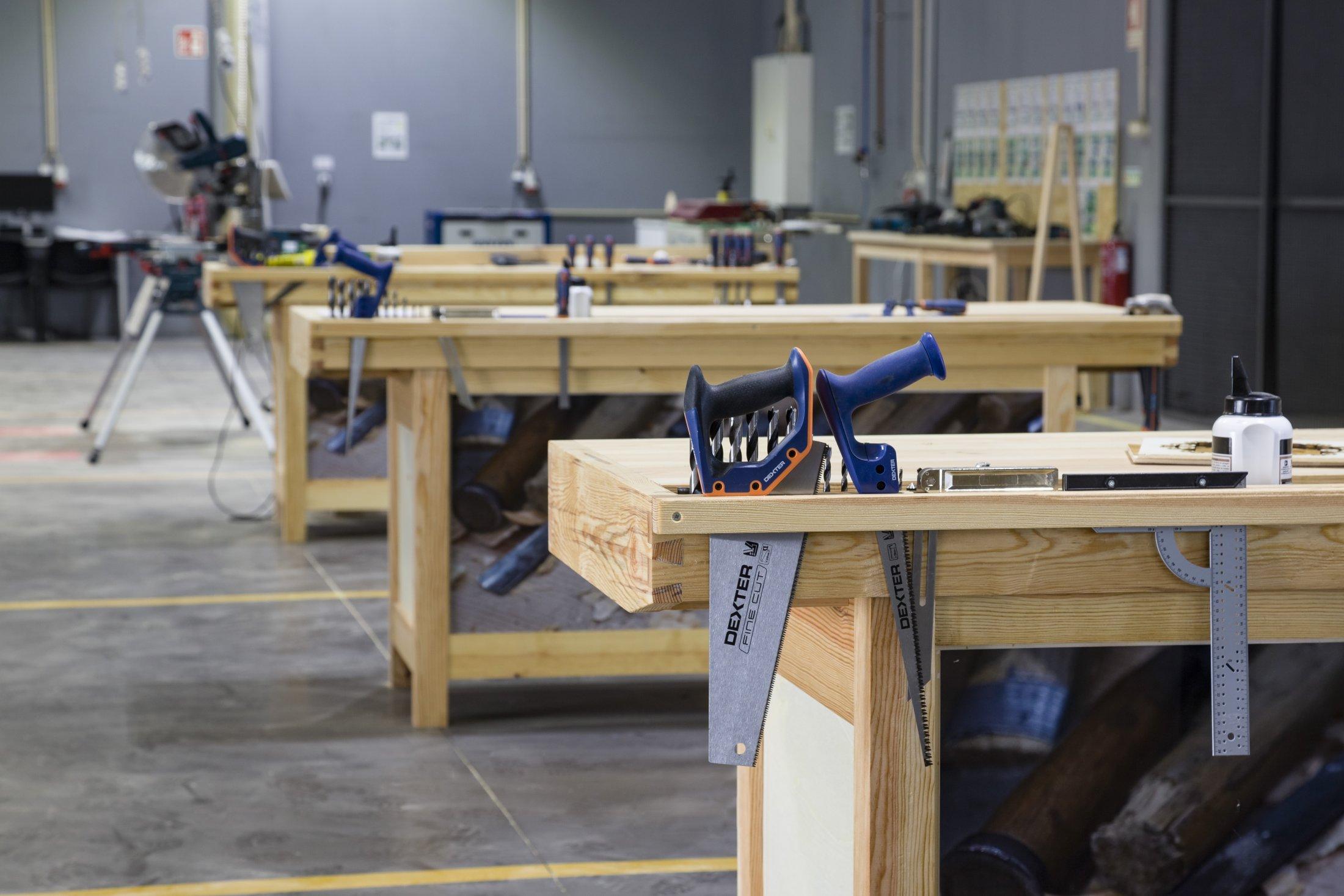 Oficina de madeira.
