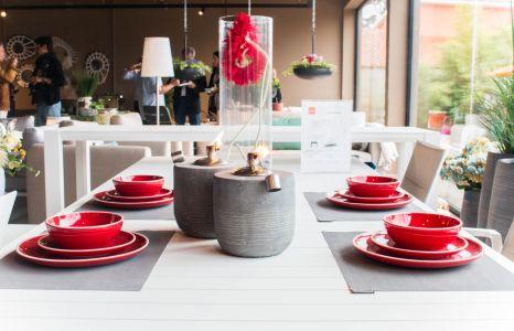A nova loja da Alaire traz mais propostas para exteriores.