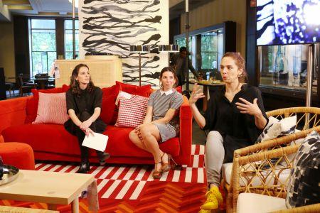 Laura Rodrigues, Graphic Communicator, Marta Carvalho, marketing, e Marta Cunha, responsável de design IKEA Portugal.