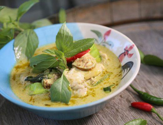 caril verde tailandês