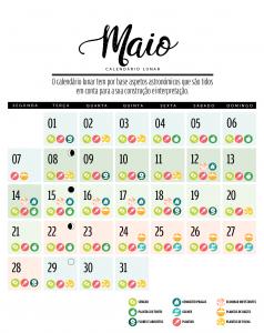 calendário lunar de maio