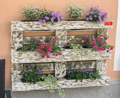 floreira de paletes